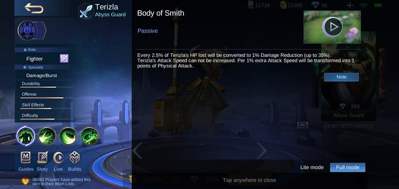 MLBB Terizla - Body of Smith