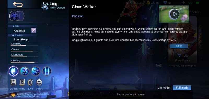 MLBB Ling - Cloud Walker