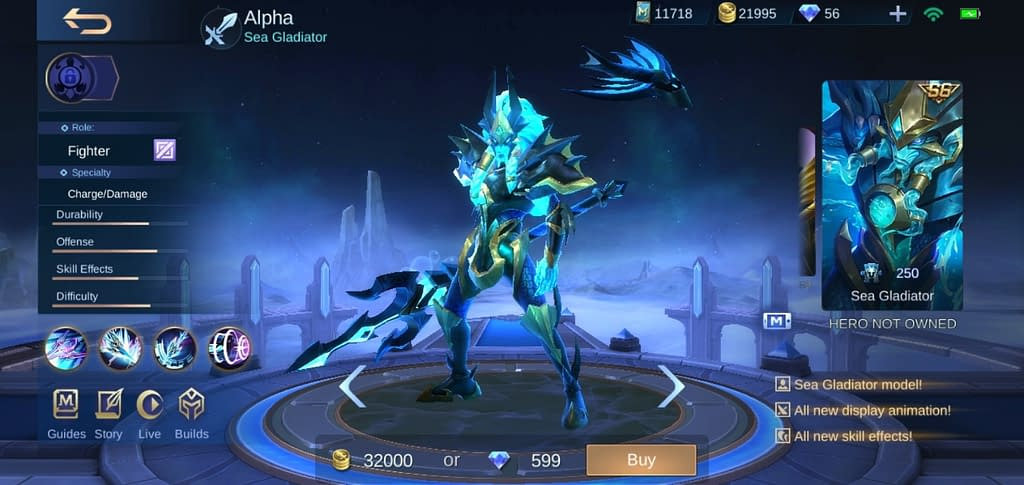 MLBB Alpha - Skin Sea Gladiator