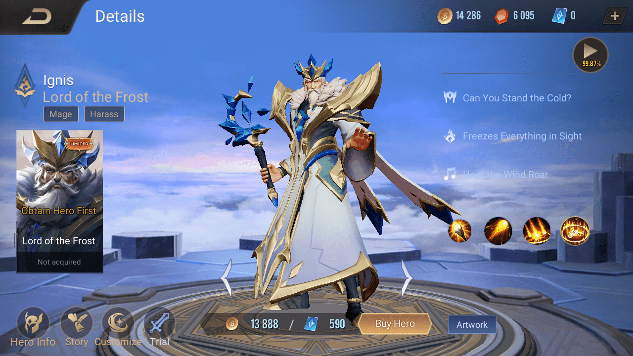 AoV Ignis - Skin Lord of the Frost
