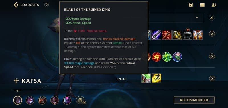 LOLWR Kai'sa - Blade of the Ruined King