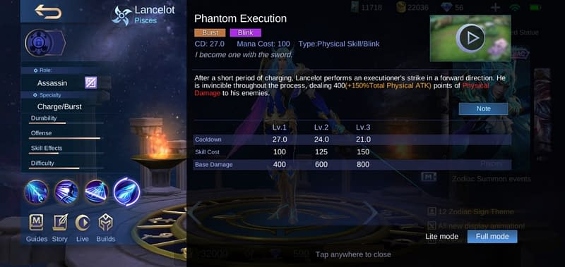 MLBB Lancelot - Phantom Execution