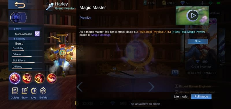 MLBB Harley - Magic Master