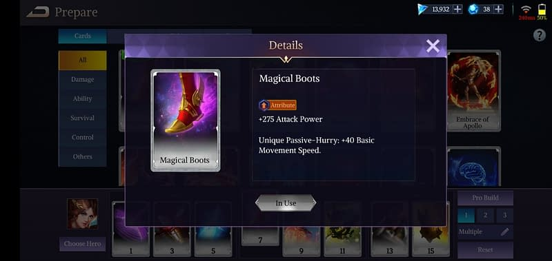LoA Penthesilea - Magical Boots