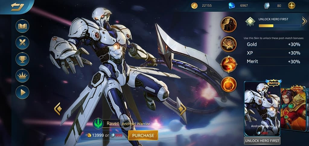 HE Raven - Skin Android Warrior