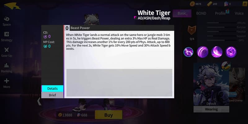 EO White Tiger - Beast Power
