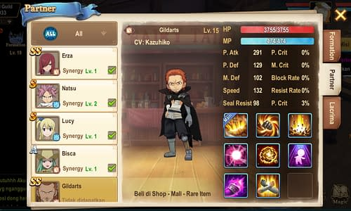 Fairy Tail Forces Unite Guide Terbaru Partner Gildarts