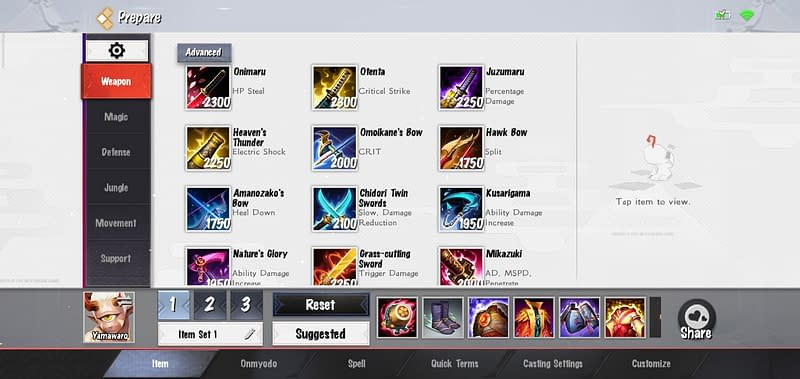 OA Yamawaro - Build