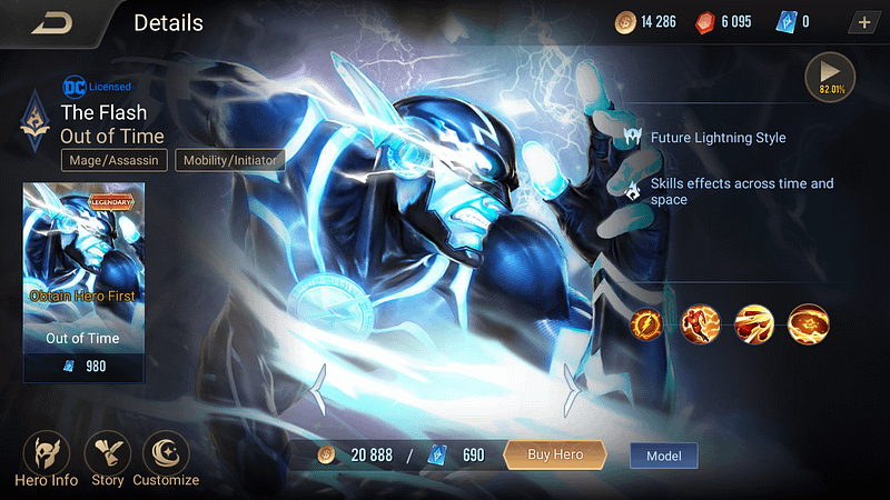 AoV The Flash - Skin Out of Time