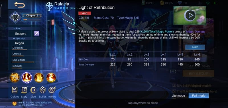 MLBB Rafaela - Light of Retribution