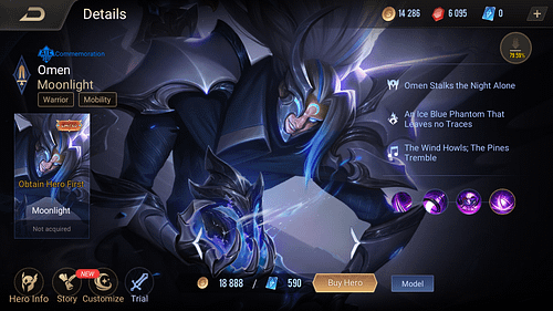 Arena of Valor Warrior Hero Omen Guide Skill & Item