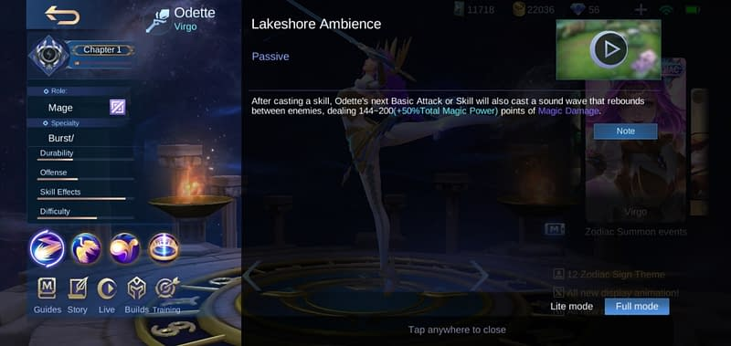MLBB Odette - Lakeshore Ambience