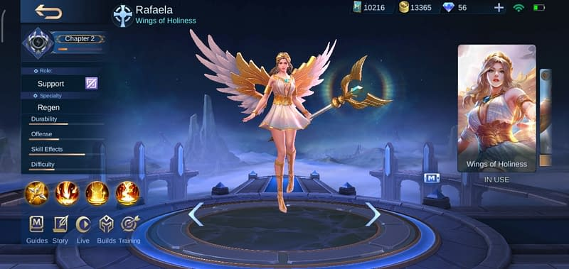 MLBB Rafaela - Skin Wings of Holiness