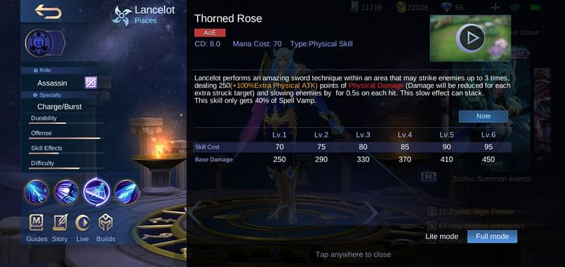 MLBB Lancelot - Thorned Rose