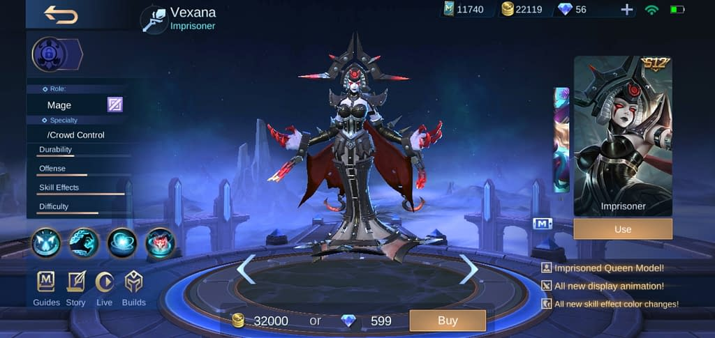MLBB Vexana - Skin Imprisoner