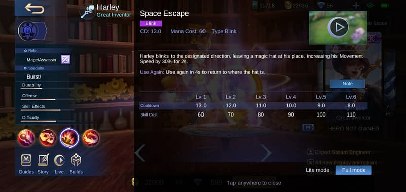 MLBB Harley - Space Escape
