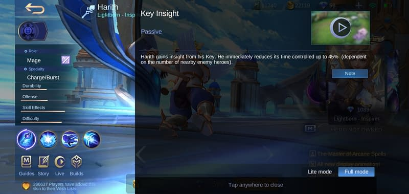 MLBB Harith - Key Insight