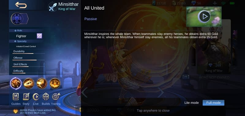 MLBB Minsitthar - All United