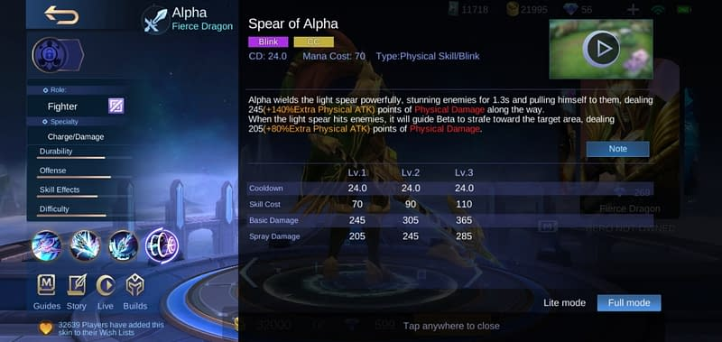 MLBB Alpha - Spear of Alpha