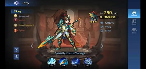 Mobile Legends Adventure Review Hero Zilong