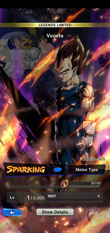 DBL Legends Limited Vegeta DBL26-06S