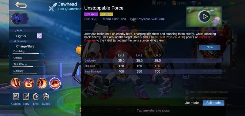 MLBB Jawhead - Unstoppable Force
