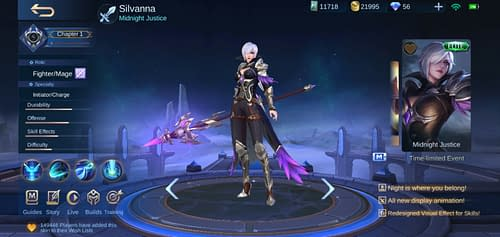 Mobile Legends Bang Bang Hero Guide Fighter Terbaru Silvanna