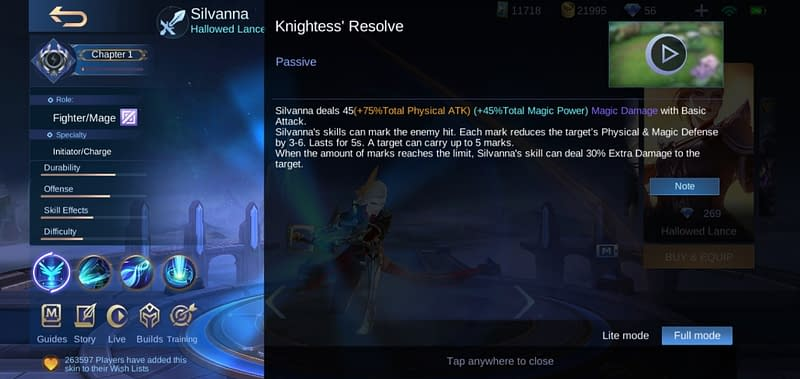 MLBB Silvanna - Knightess' Resolve