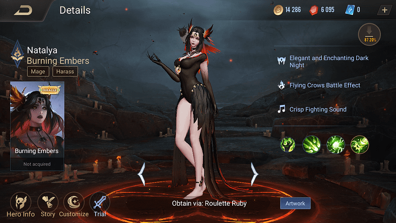 AoV Natalya - Skin Burning Embers