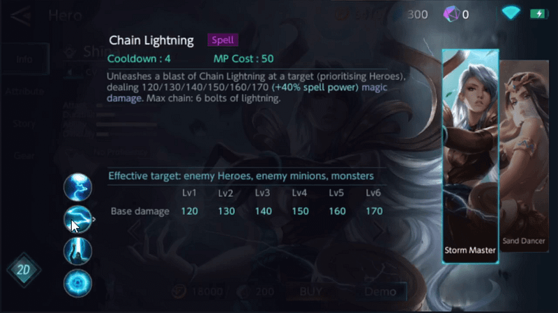 WS Shina - Chain Lightning