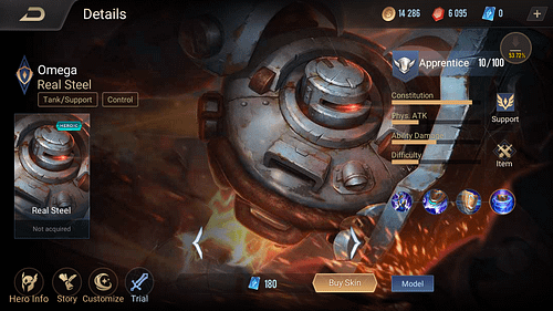 Arena of Valor Tank Hero Guide Skill Item Omega