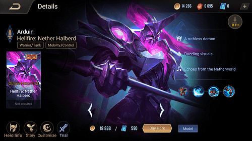 Arena of Valor Tank Hero Guide Skill Item Arduin