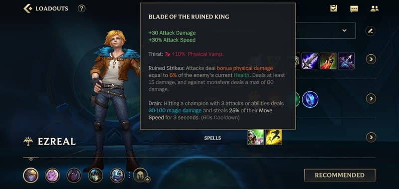 LOLWR Ezreal - Blade of the Ruined King