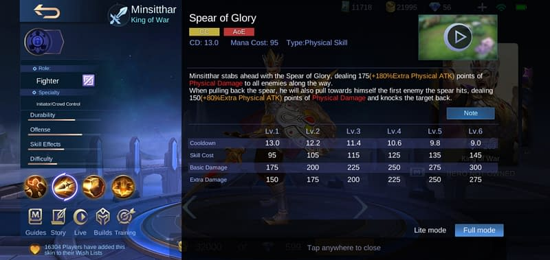 MLBB Minsitthar - Spear of Glory