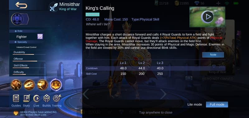 MLBB Minsitthar - King's Calling