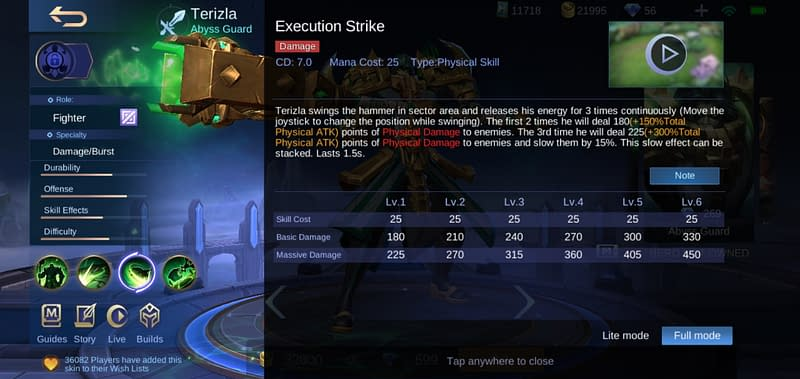 MLBB Terizla - Execution Strike